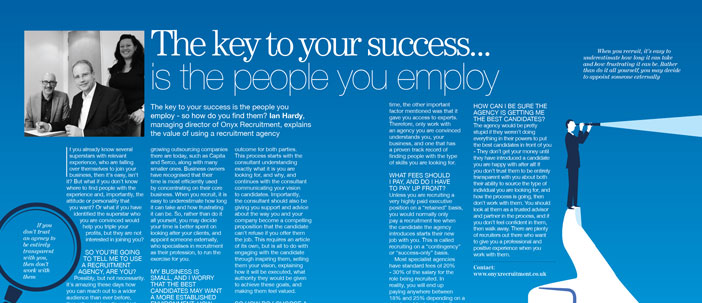 The key to your success… is the people you employ